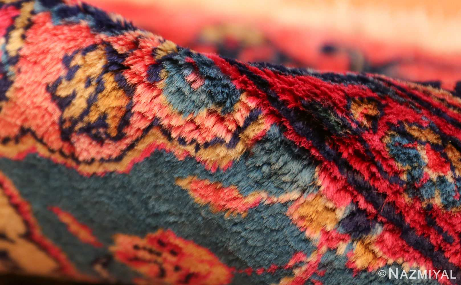 oversized antique kashan persian rug 49231 pile Nazmiyal
