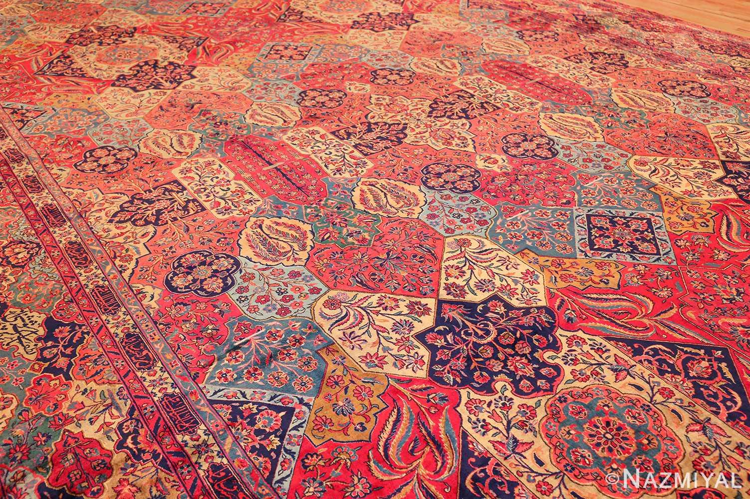 oversized antique kashan persian rug 49231 side Nazmiyal