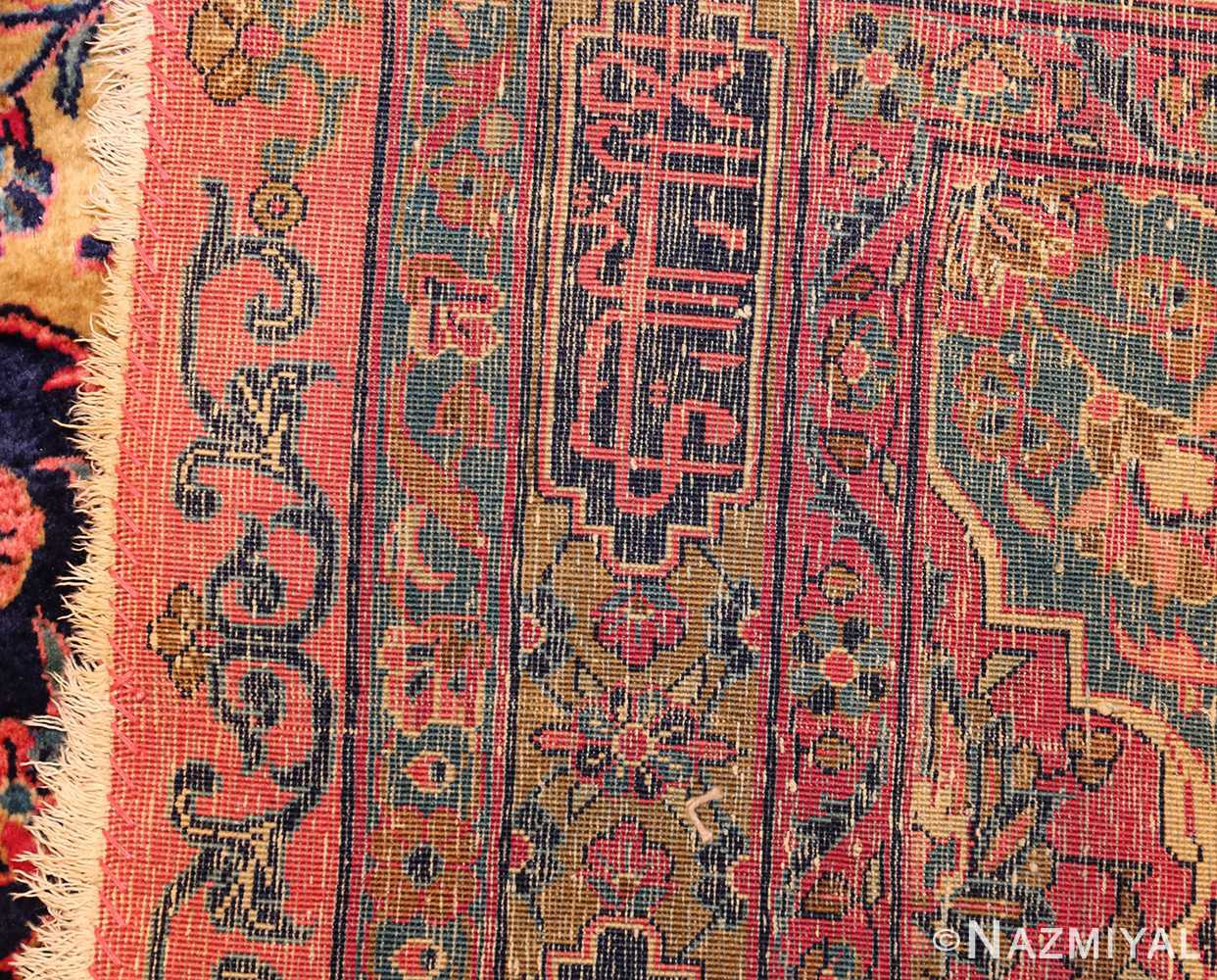 oversized antique kashan persian rug 49231 weave Nazmiyal