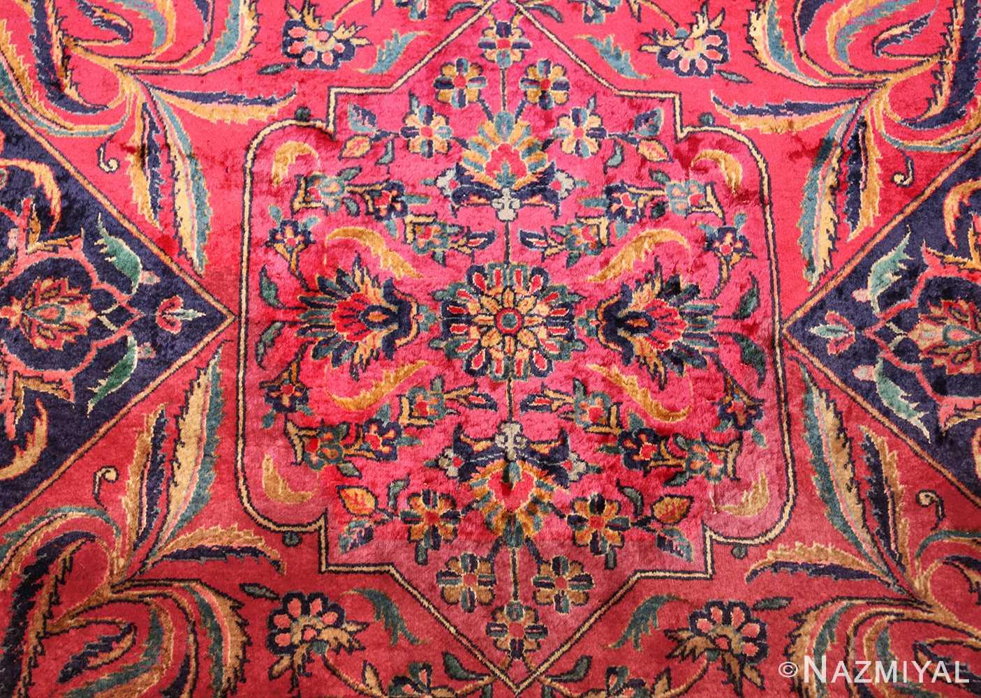 oversized antique kashan persian rug 49231 writing Nazmiyal