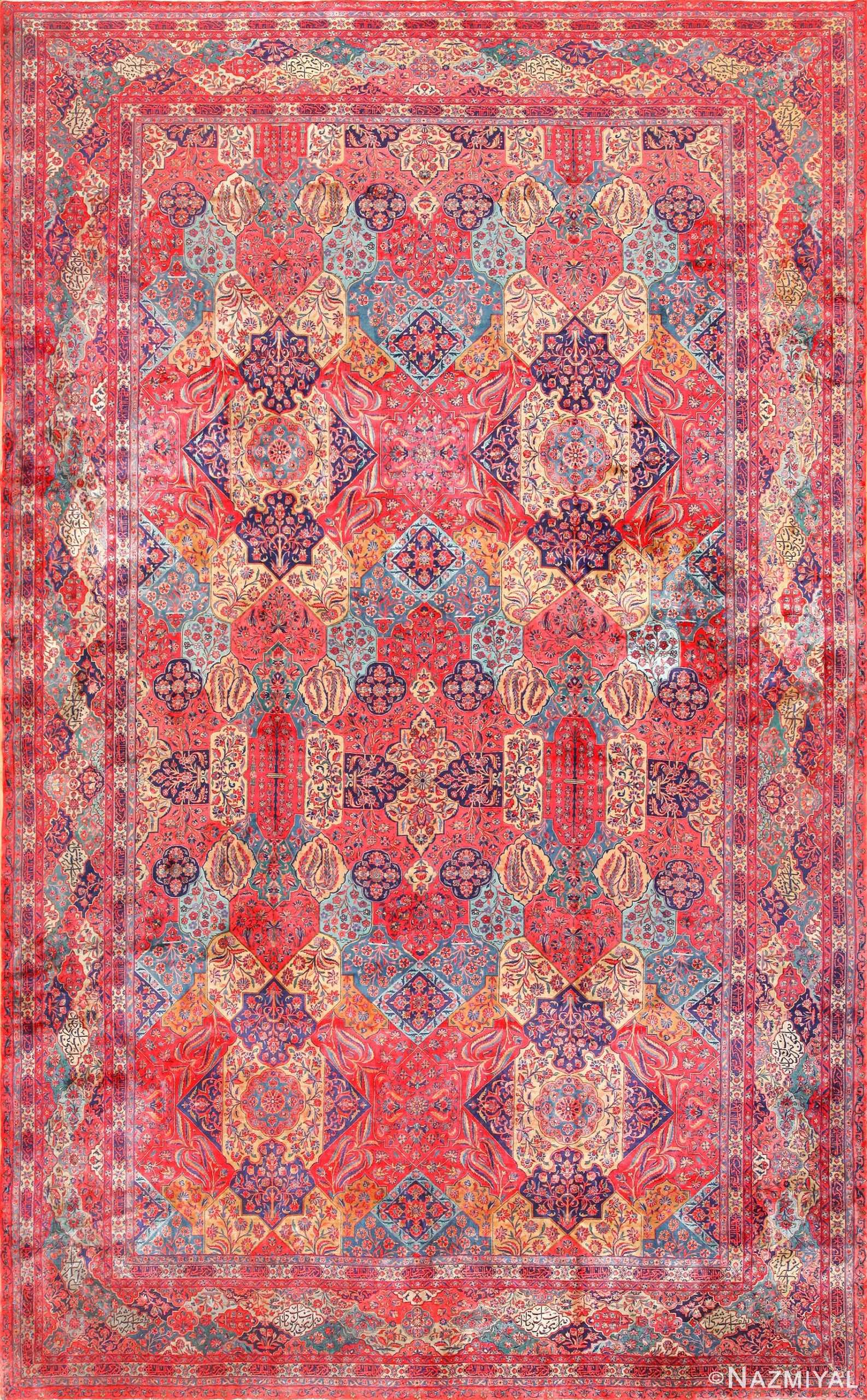 oversized antique kashan persian rug 49231 Nazmiyal