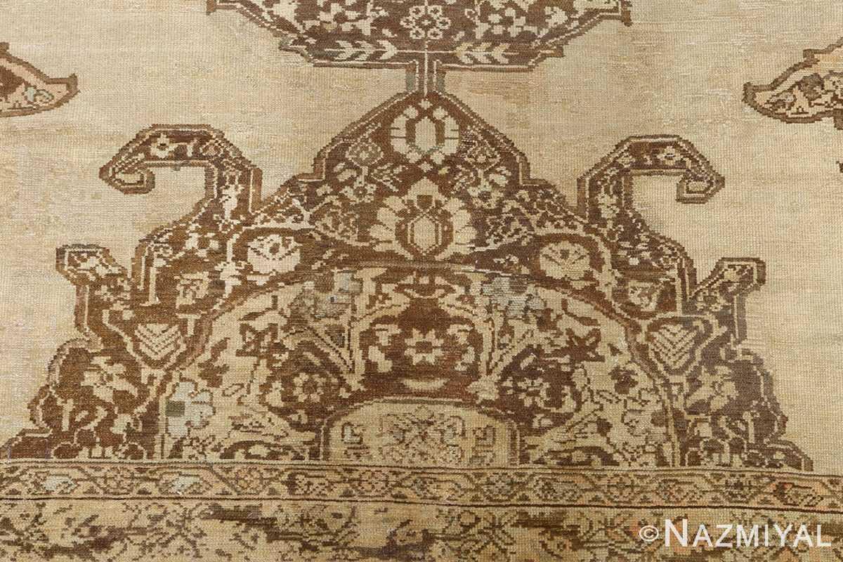 oversized antique malayer persian rug 51100 brown Nazmiyal