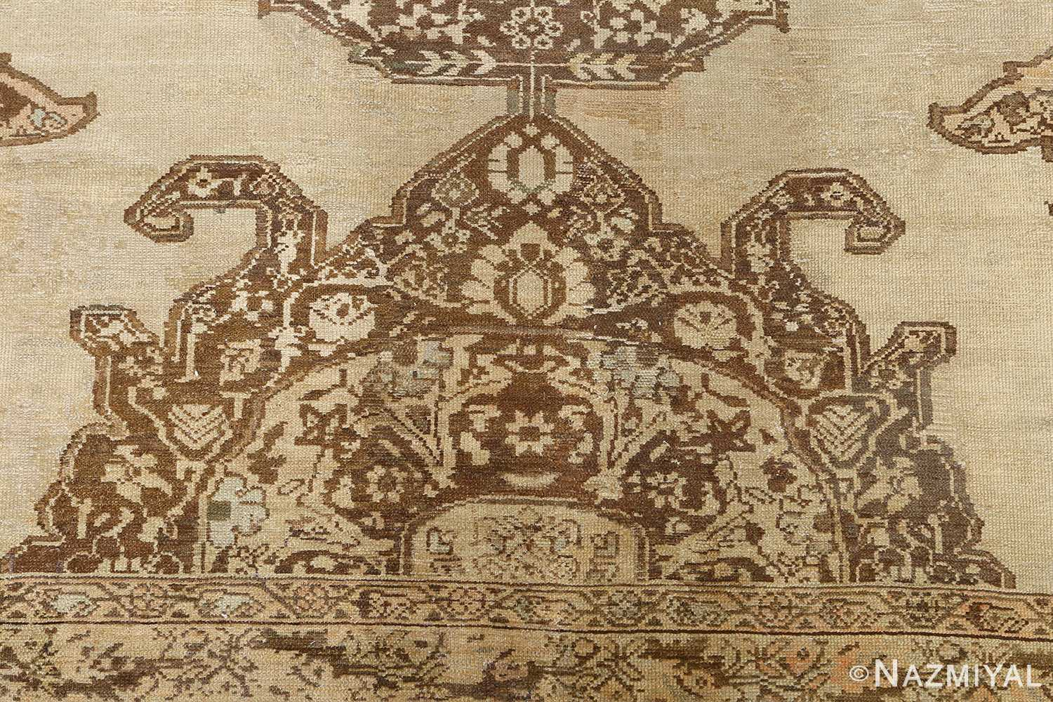 oversized antique malayer persian rug 51100 brown Nazmiyal