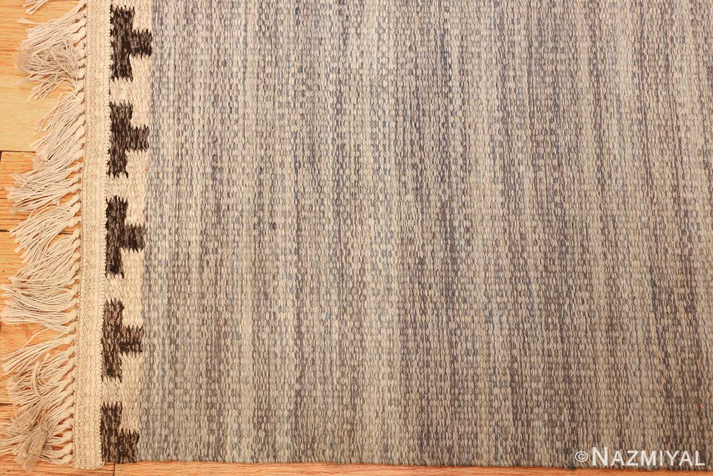 rakel carlander designed vintage scandinavian swedish kilim 49265 corner Nazmiyal