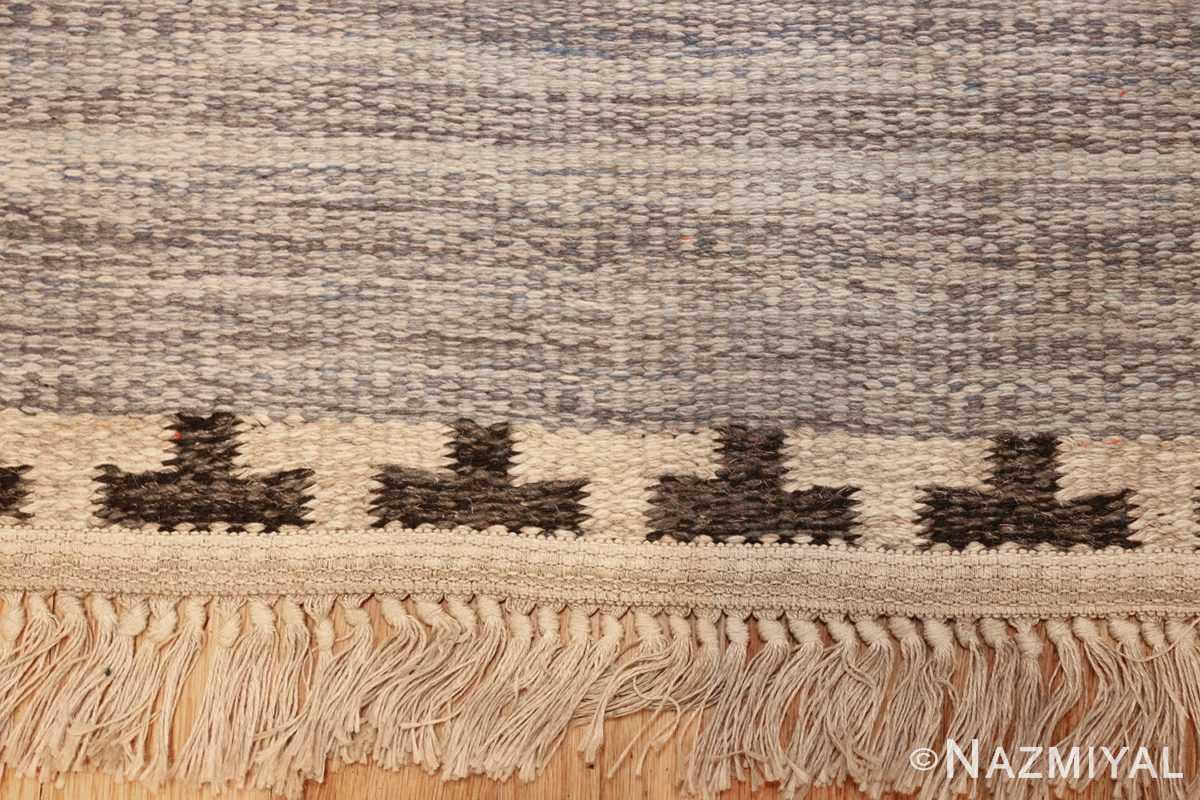 rakel carlander designed vintage scandinavian swedish kilim 49265 fringes Nazmiyal