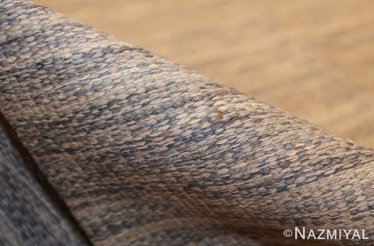 rakel carlander designed vintage scandinavian swedish kilim 49265 pile Nazmiyal