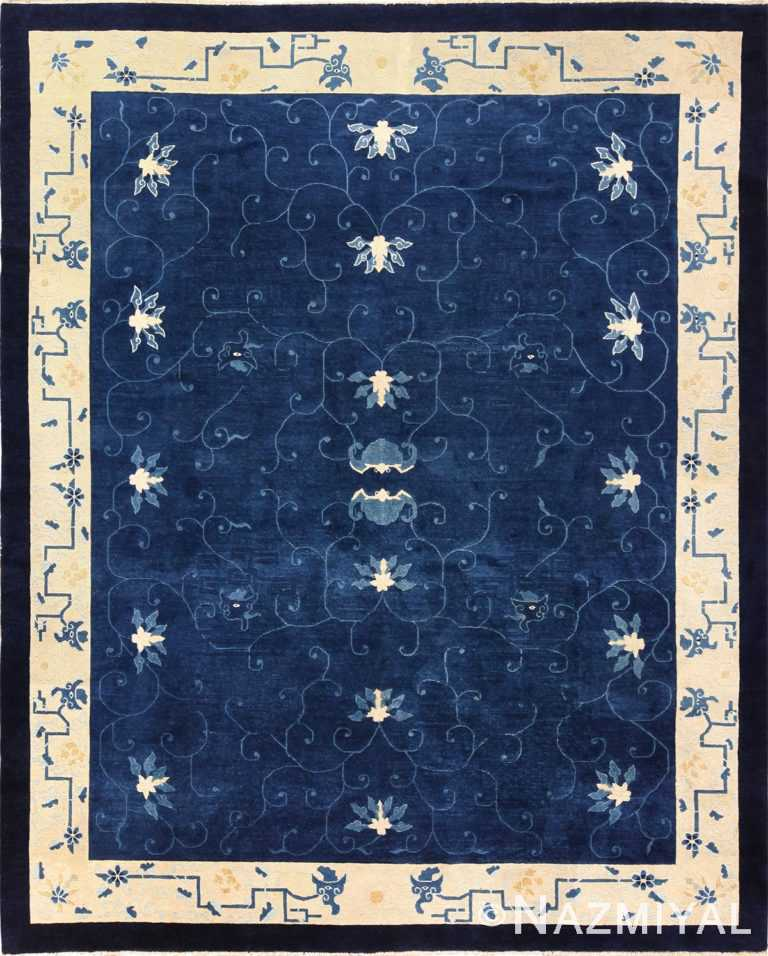 room size antique blue chinese rug 49272 Nazmiyal
