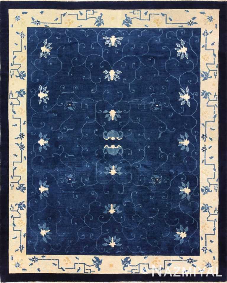 room size antique blue chinese rug 49272 Nazmiyal