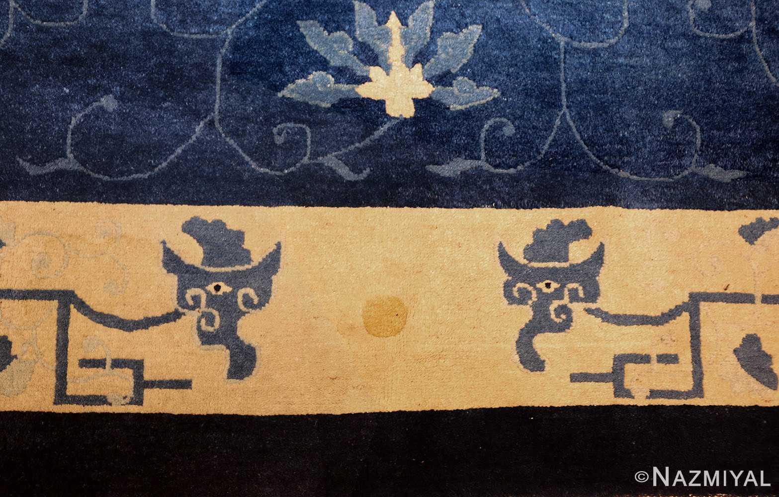 room size antique blue chinese rug 49272 bottom Nazmiyal