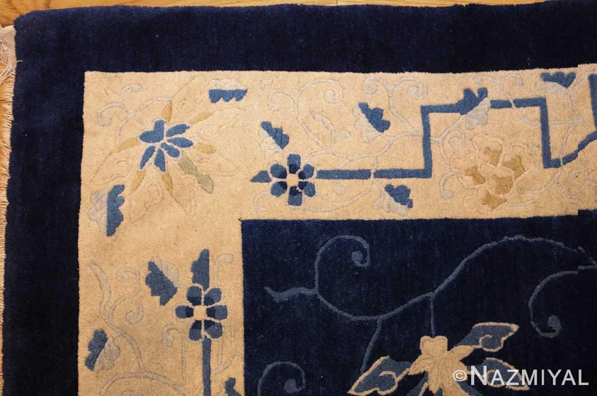 room size antique blue chinese rug 49272 corner Nazmiyal
