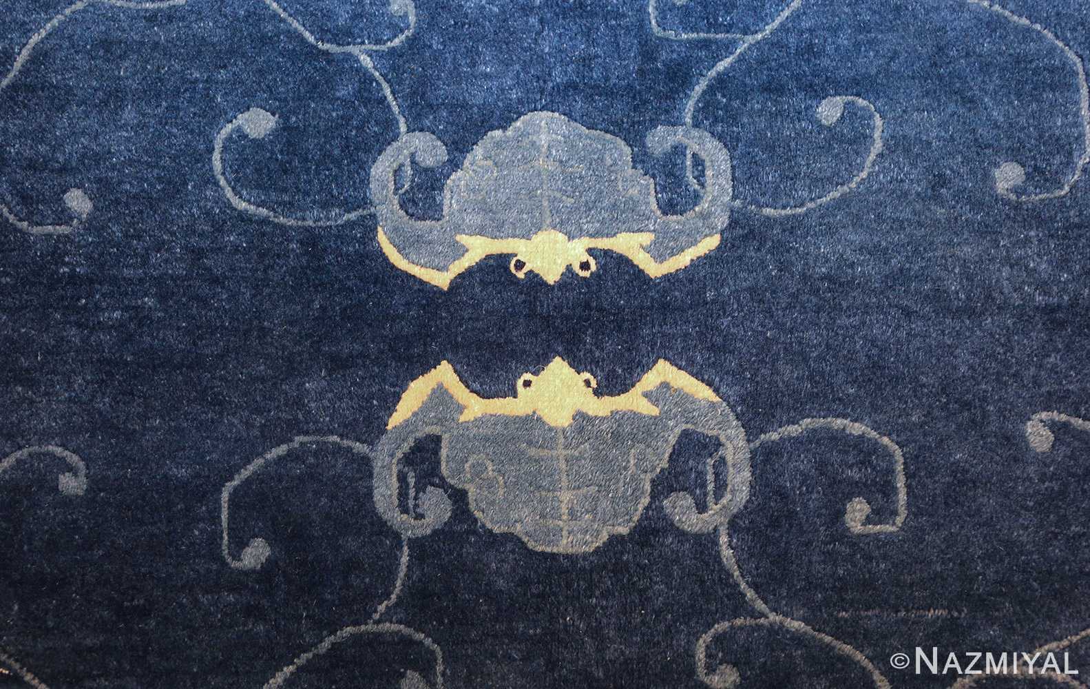room size antique blue chinese rug 49272 crabs Nazmiyal