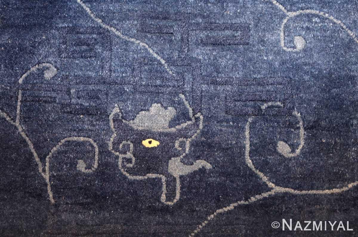 room size antique blue chinese rug 49272 design Nazmiyal