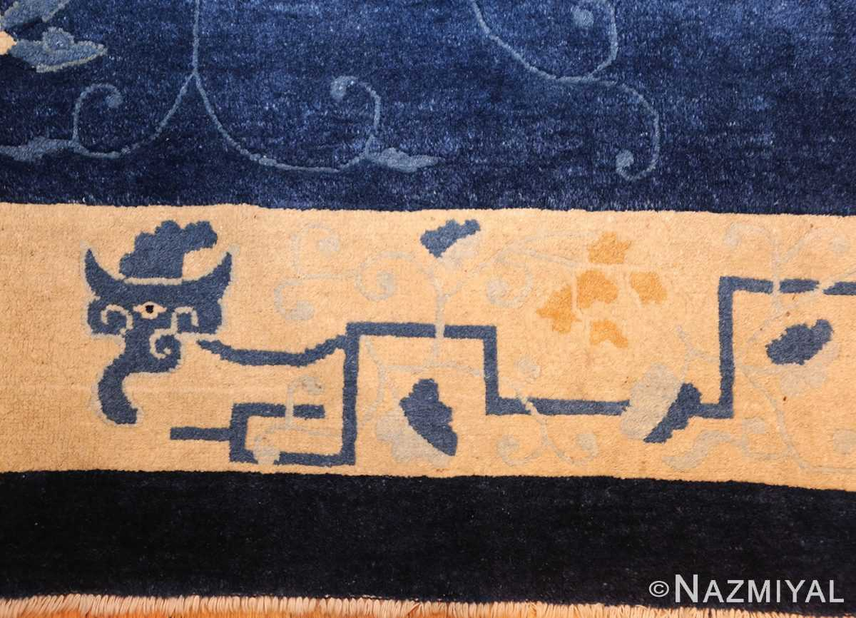 room size antique blue chinese rug 49272 dragon Nazmiyal