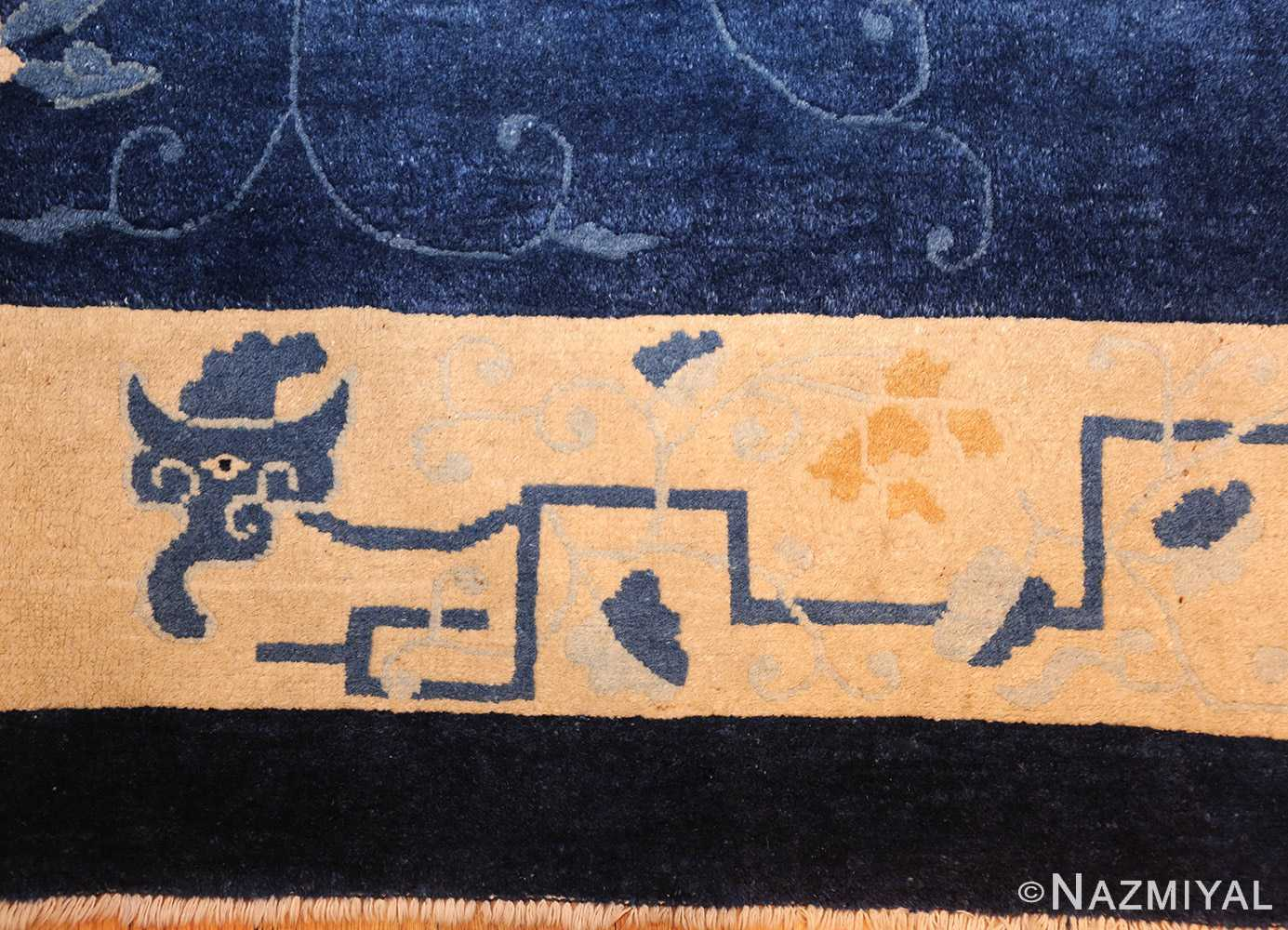 room size antique blue chinese rug 49272 dragon Nazmiyal