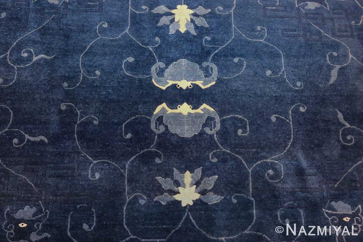 room size antique blue chinese rug 49272 field Nazmiyal