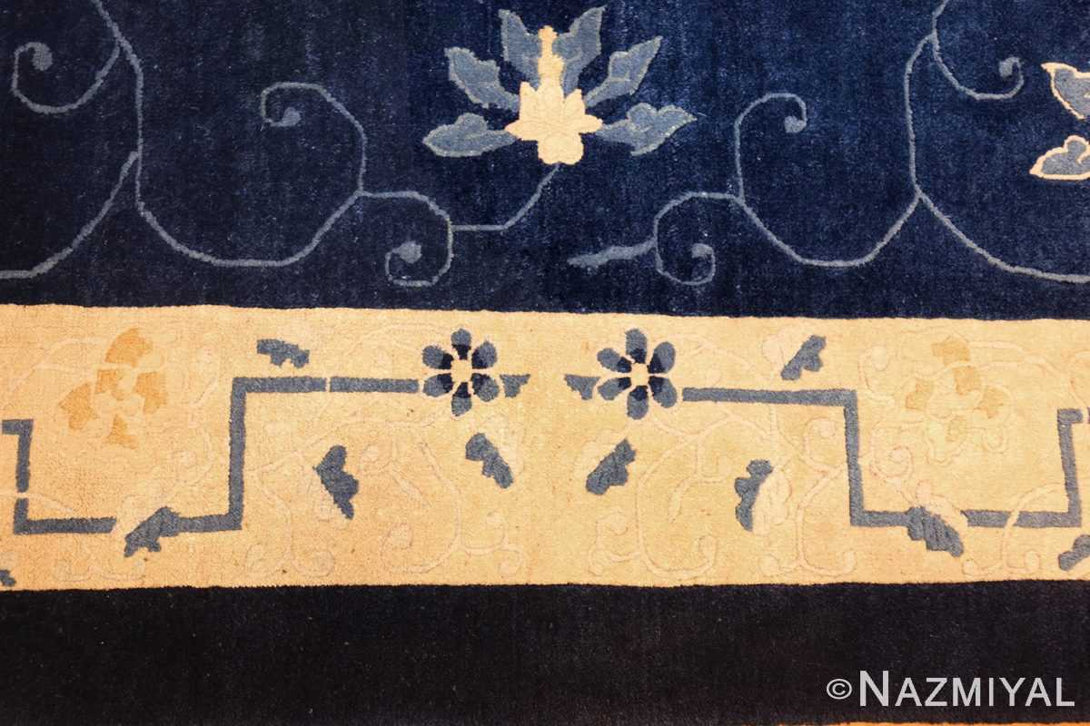 room size antique blue chinese rug 49272 flowers Nazmiyal