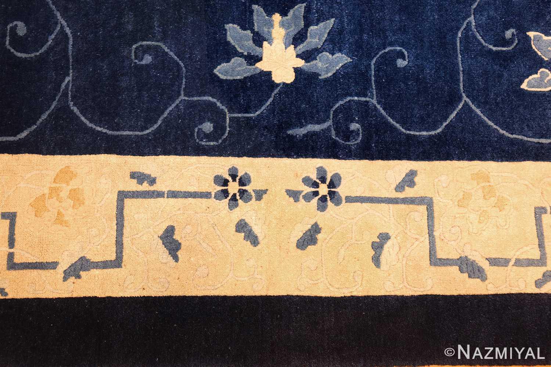 room size antique blue chinese rug 49272 flowers Nazmiyal