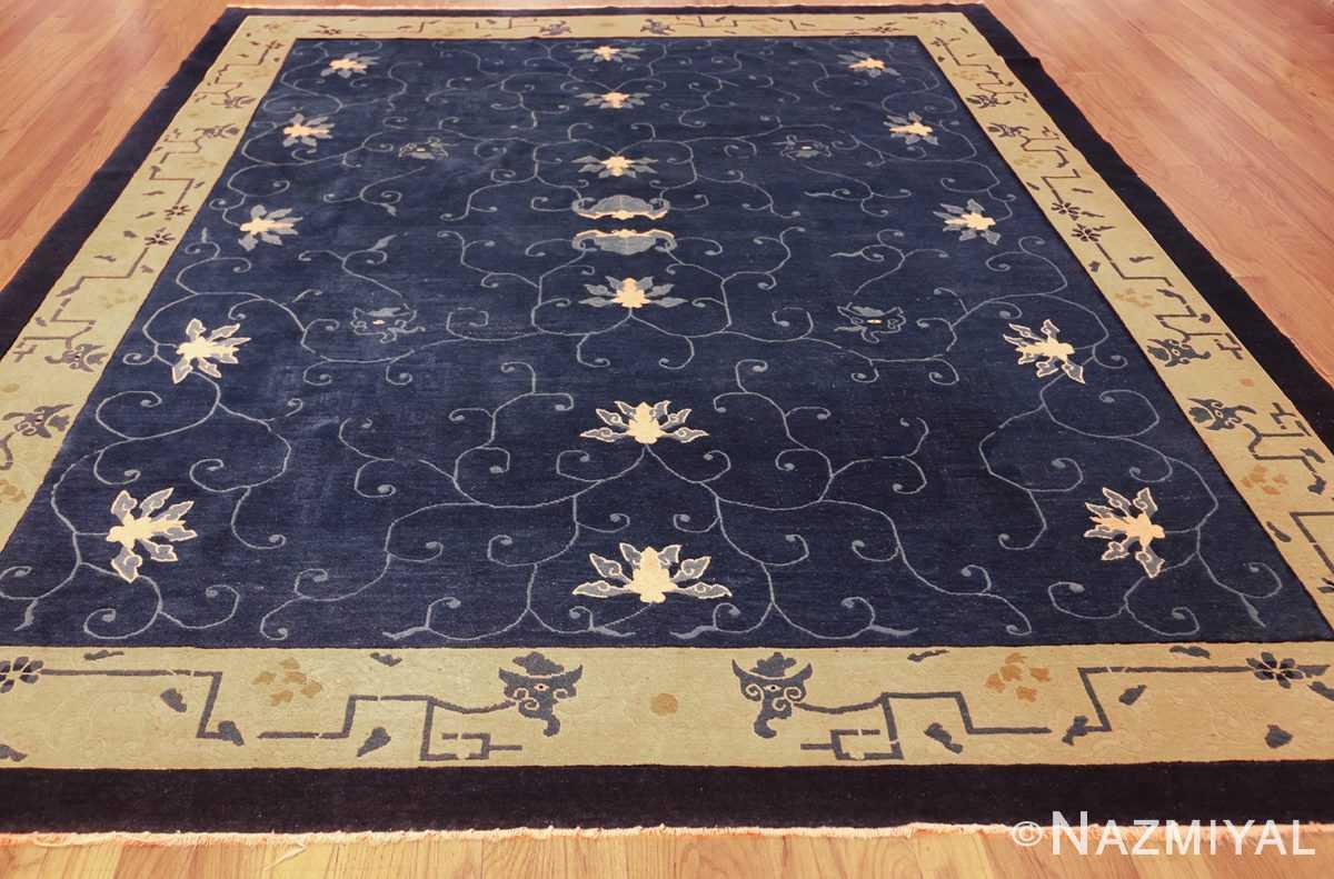 room size antique blue chinese rug 49272 full Nazmiyal