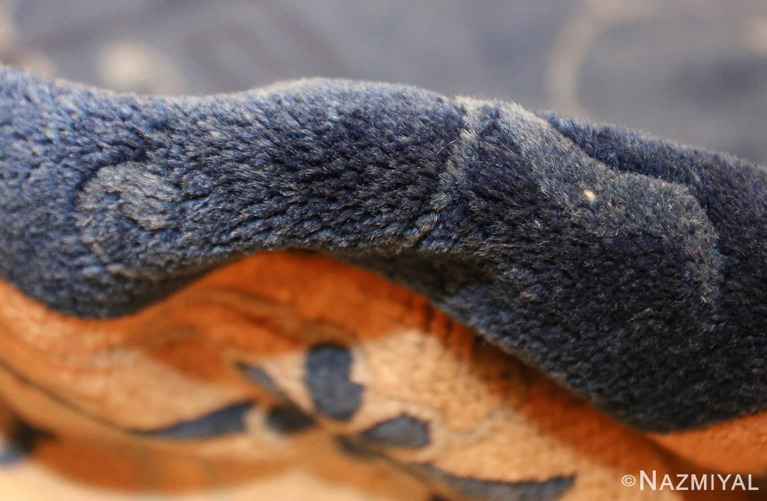 room size antique blue chinese rug 49272 pile Nazmiyal