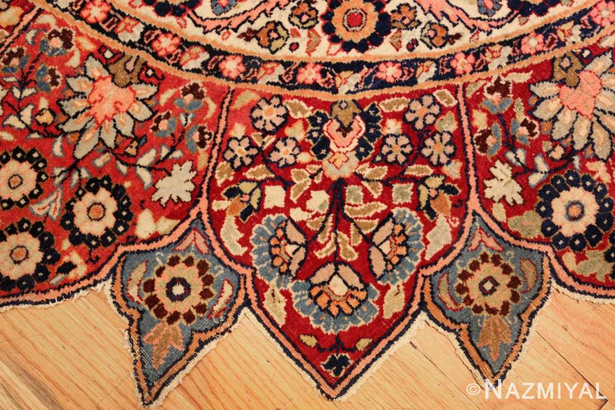 round antique khorassan persian rug 49255 banks Nazmiyal