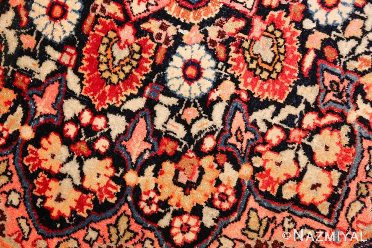 round antique khorassan persian rug 49255 flowers Nazmiyal