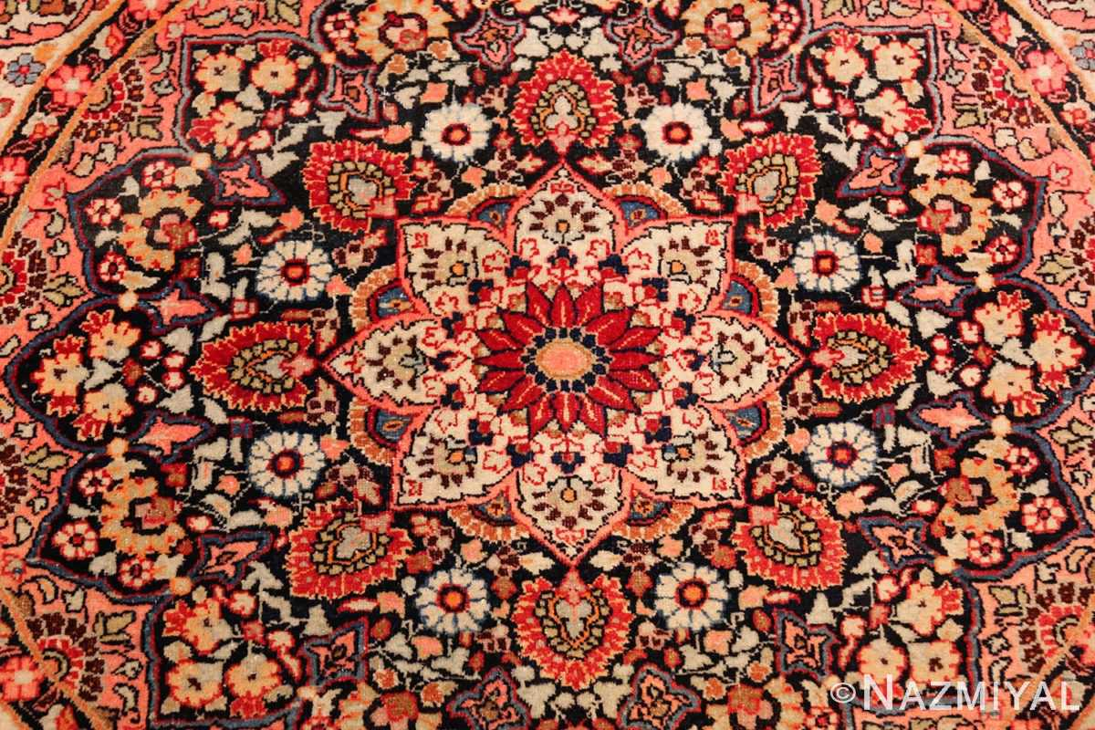 round antique khorassan persian rug 49255 middle Nazmiyal