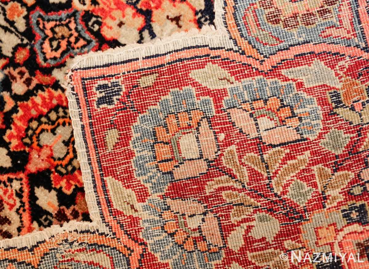 round antique khorassan persian rug 49255 weave Nazmiyal