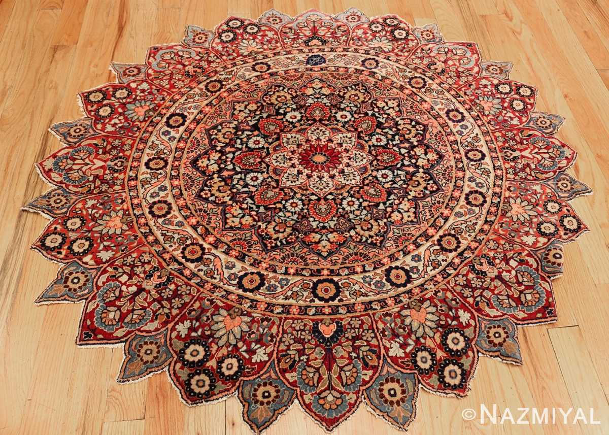 round antique khorassan persian rug 49255 whole Nazmiyal