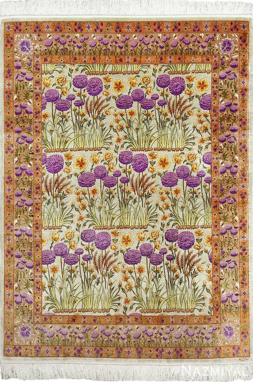silk floral vintage tabriz persian rug 51114 Nazmiyal