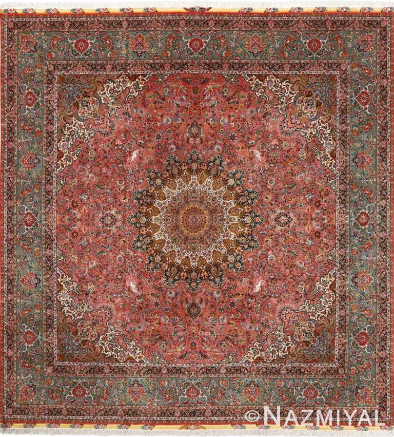 square animal motif vintage tabriz persian rug 51080 Nazmiyal