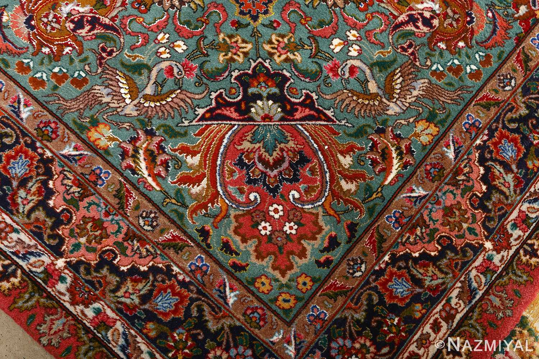 square animal motif vintage tabriz persian rug 51080 design Nazmiyal
