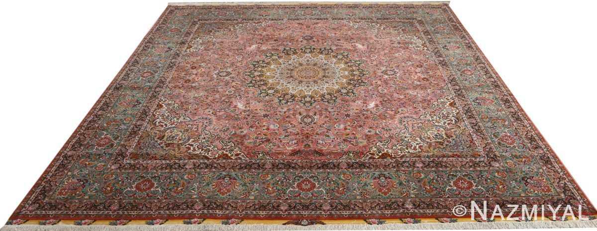 square animal motif vintage tabriz persian rug 51080 full Nazmiyal