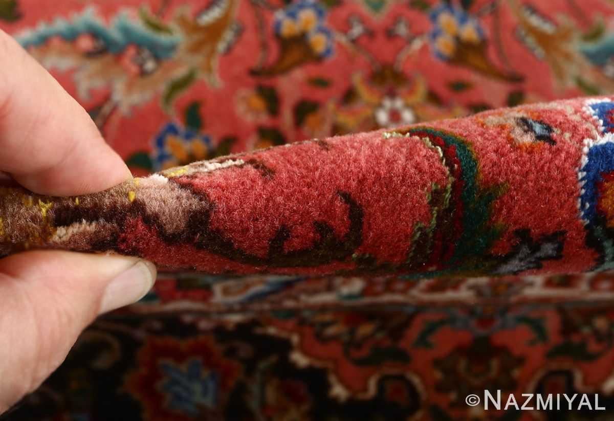 square animal motif vintage tabriz persian rug 51080 pile Nazmiyal
