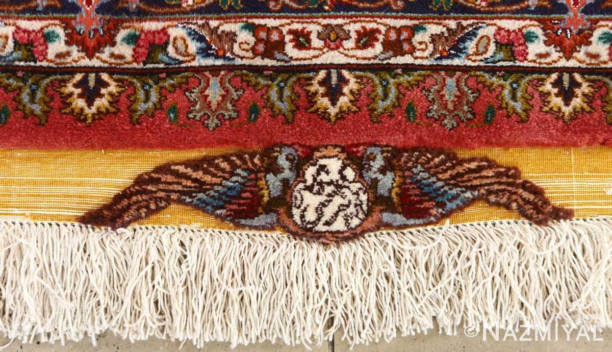 square animal motif vintage tabriz persian rug 51080 signature Nazmiyal