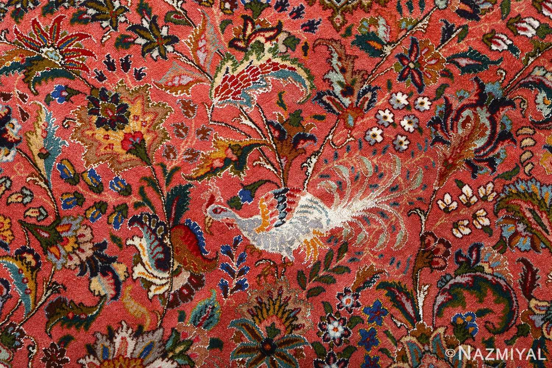 square animal motif vintage tabriz persian rug 51080 simorg Nazmiyal