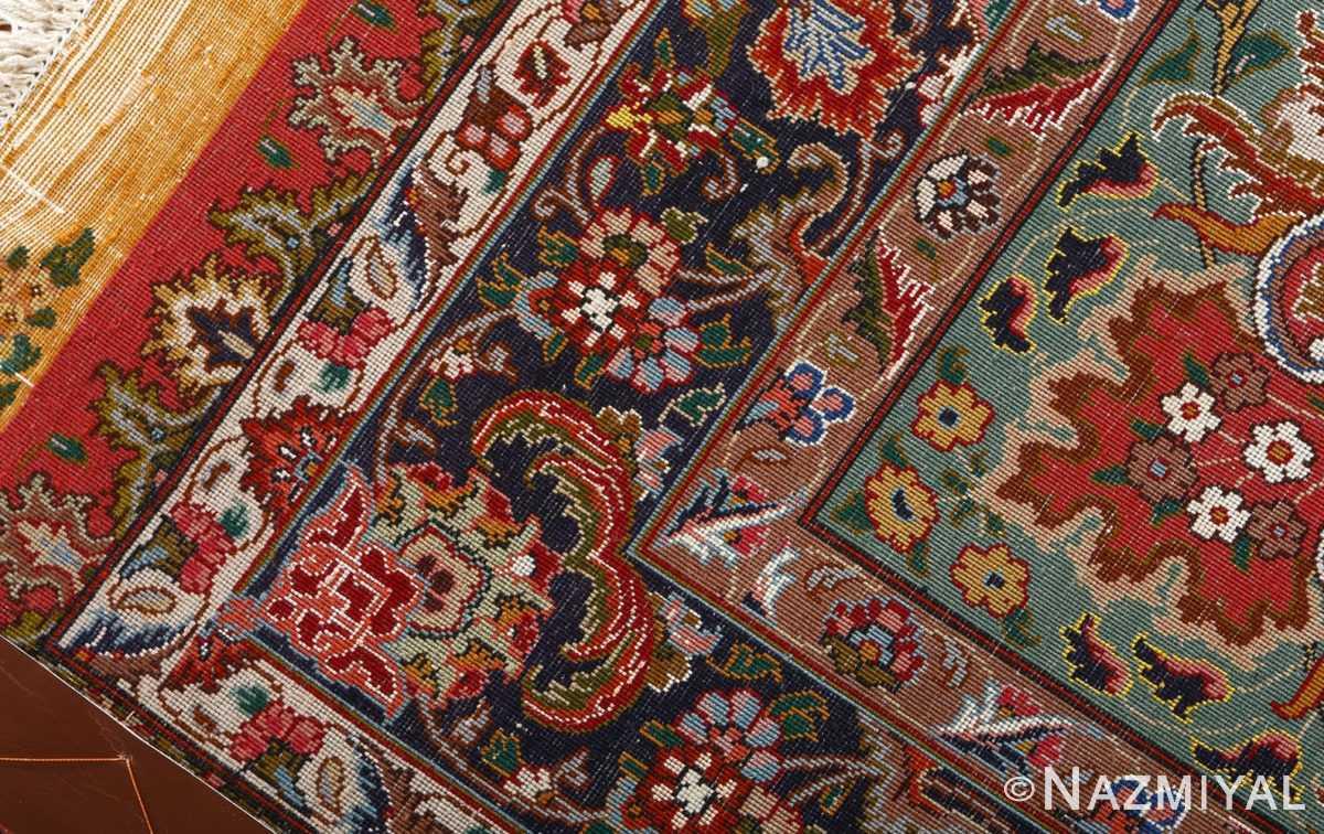 square animal motif vintage tabriz persian rug 51080 weave Nazmiyal