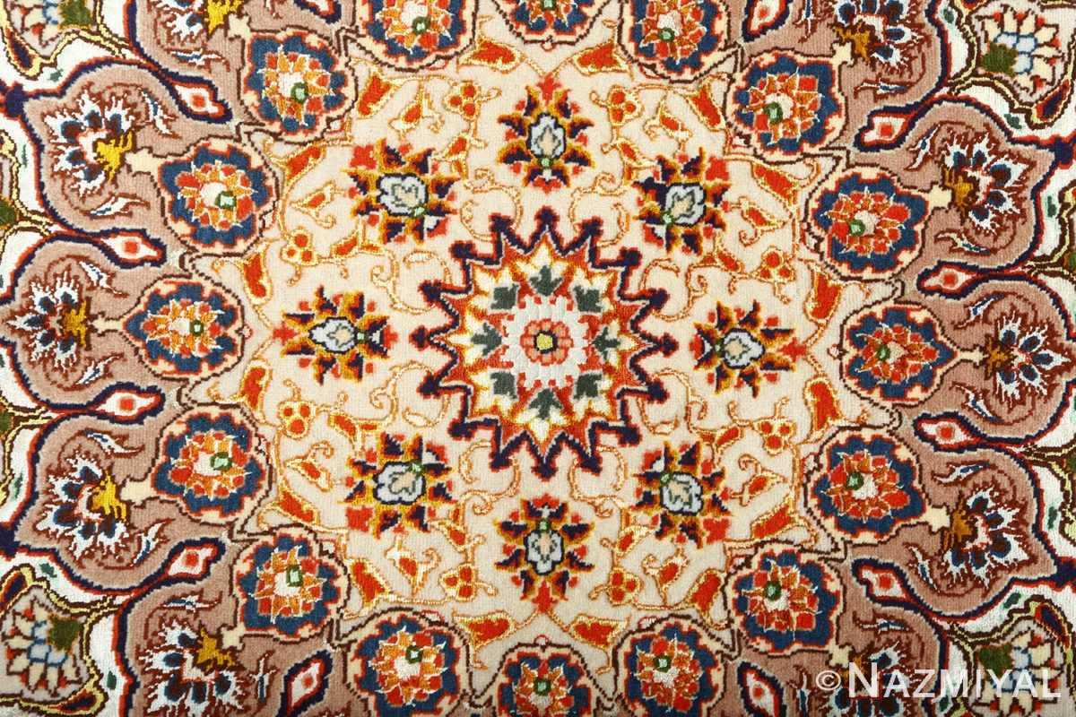 square gonbad design vintage tabriz persian rug 51075 center Nazmiyal