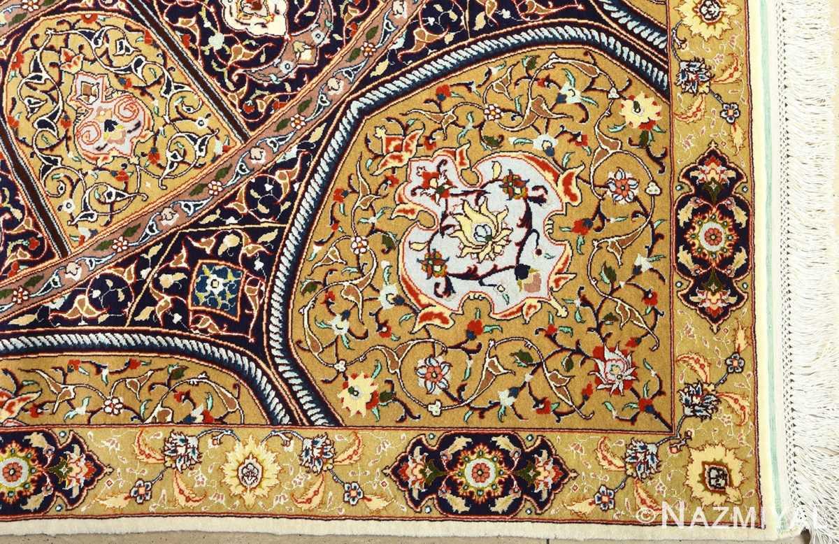 square gonbad design vintage tabriz persian rug 51075 corner Nazmiyal