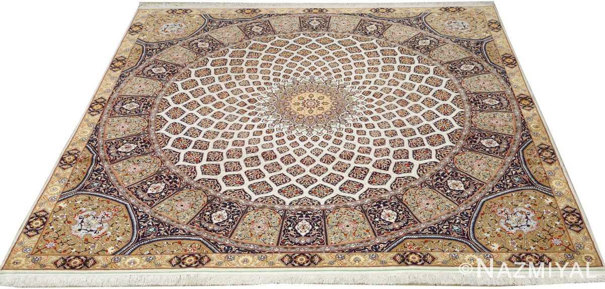 square gonbad design vintage tabriz persian rug 51075 full Nazmiyal