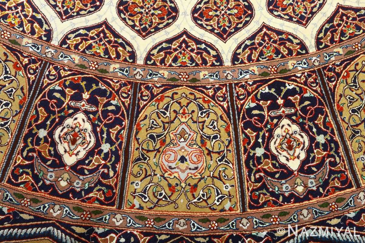 square gonbad design vintage tabriz persian rug 51075 slimis Nazmiyal