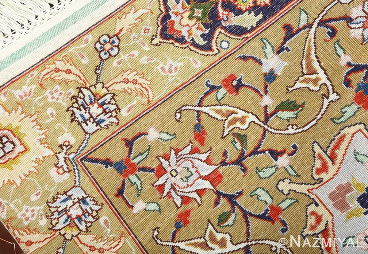 square gonbad design vintage tabriz persian rug 51075 weave Nazmiyal