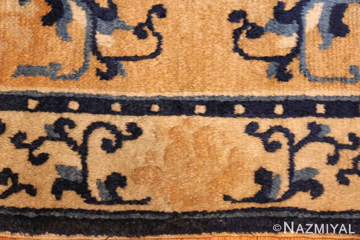 square scatter size golden antique chinese rug 49274 border Nazmiyal