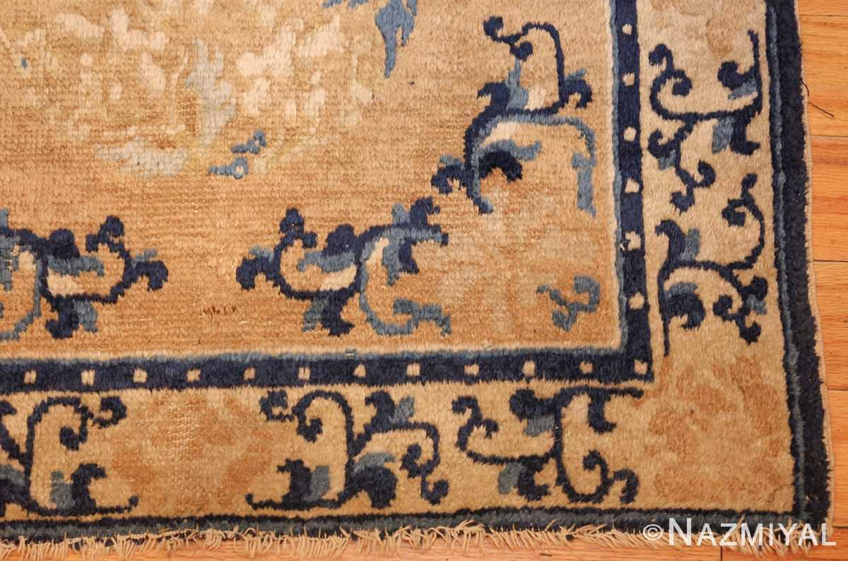 square scatter size golden antique chinese rug 49274 corner Nazmiyal