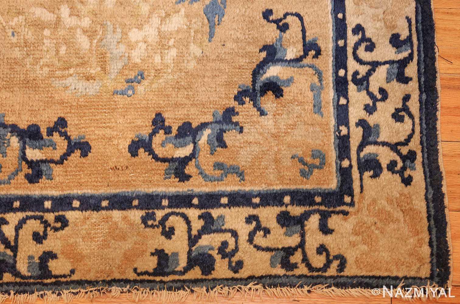square scatter size golden antique chinese rug 49274 corner Nazmiyal