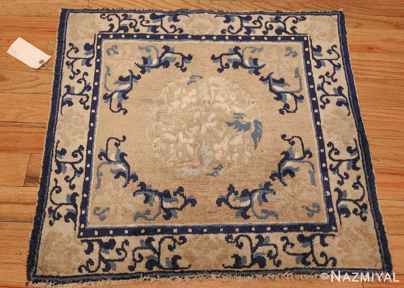 square scatter size golden antique chinese rug 49274 full Nazmiyal