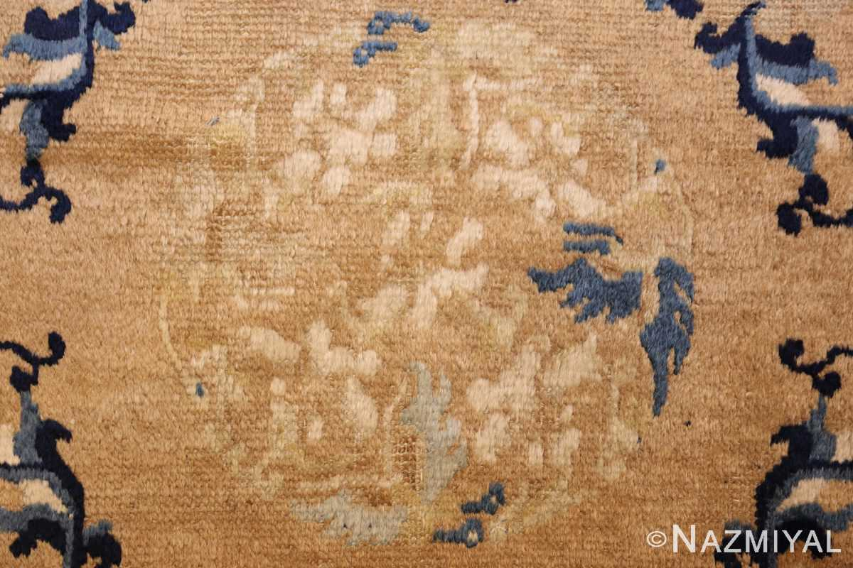 square scatter size golden antique chinese rug 49274 medallion Nazmiyal