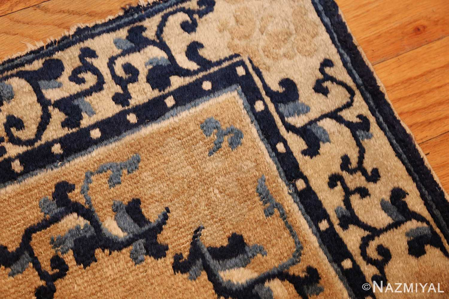 square scatter size golden antique chinese rug 49274 part Nazmiyal