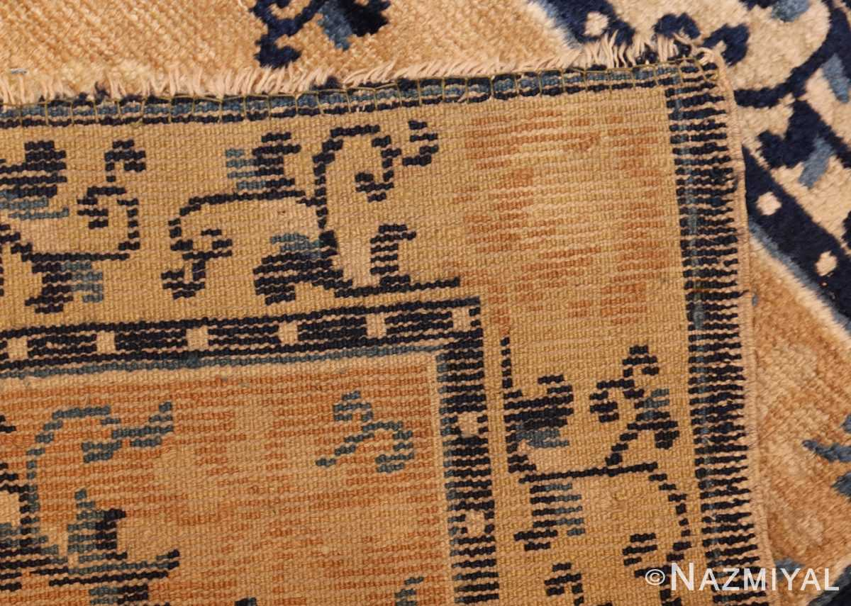 square scatter size golden antique chinese rug 49274 weave Nazmiyal