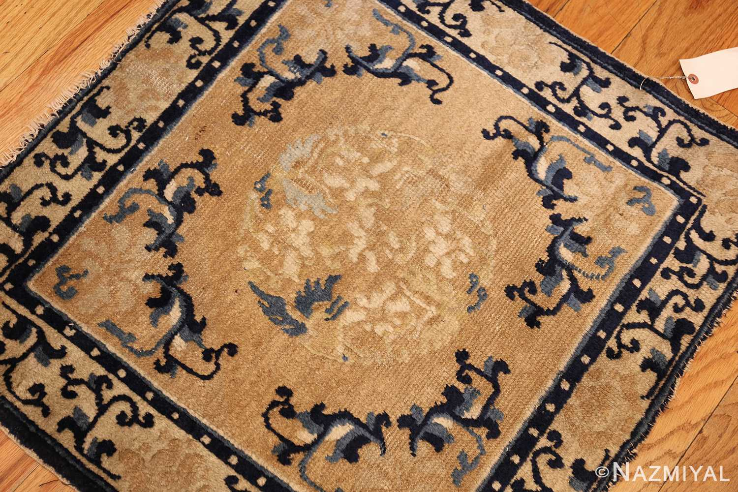 square scatter size golden antique chinese rug 49274 whole Nazmiyal