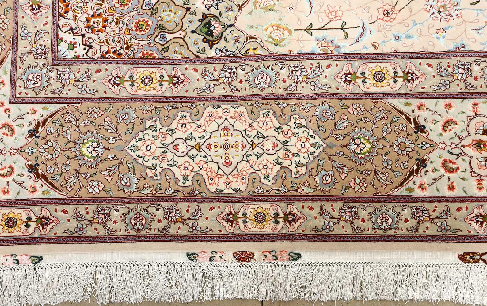 square shahsavarpour design vintage tabriz persian rug 51076 border Nazmiyal